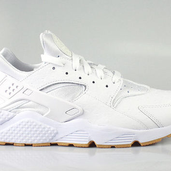 Nike Men's Air Huarache Run PA White Ostrich Gum Bottom