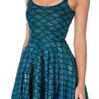 MERMAID STRAPS SKATER DRESS