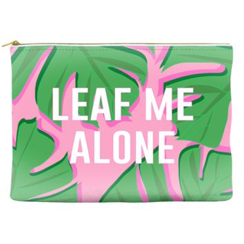 Leaf Me Alone - Makeup Pouch
