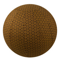 Yoga Ball Cover Size 65 Design Chocolate Flower of Life