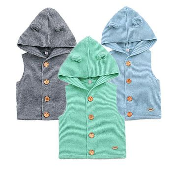 Wool Baby Vest Spring Baby Boy Clothes Cute Baby Girl Sweater 2018 Infant Baby Outwear Autumn Newborn Clothing Kids Costume