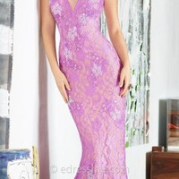 Plunging Embellished Lace Prom Dresses by Jovani Exclusive Collection for eDressMe