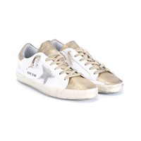 GOLDEN GOOSE | Super Star Glitter Low-top Leather Trainers | brownsfashion.com | The Finest Edit of Luxury Fashion | Clothes, Shoes, Bags and Accessories for Men & Women