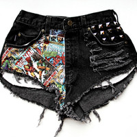 MADE TO ORDER Marvel Comic Book High Waist Shorts by RomaniRose