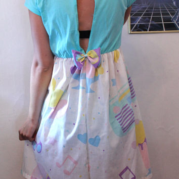 pastel summer open back dress