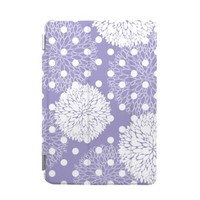 BEANBEANCASE Ultra Thin Magnetic Smart Cover & Clear Back Case for Apple iPad Air 2 with elegant floral pattern (Purple)