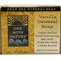 One With Nature Dead Sea Mineral Soap, Vanilla Oatmeal, 7 Ounce