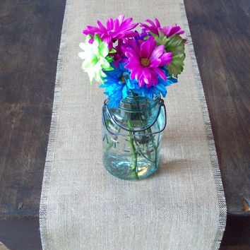 Burlap Table Runner 12 x 60 - Other Colors Available