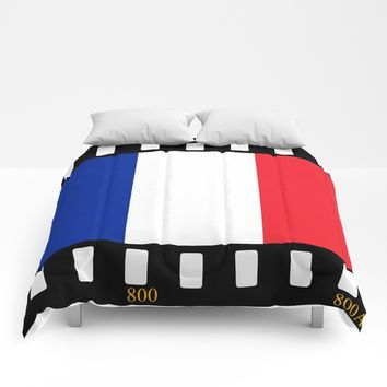 France Flag Film Comforters by Henrik Lehnerer