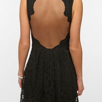 Lace Sheer-Back Dress