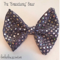 Sparkly Hair bow, sparkly bow, broadway, broadway bow, music bow, hair bows, bow, bows, hair accessories, little girls hair bow