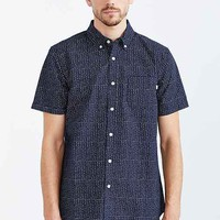 OBEY Baxter Short-Sleeve Button-Down Shirt- Navy