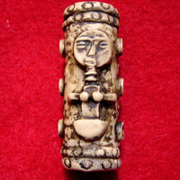 Dread Bead  Ivory Tribal Bead  You Choose Hole Size