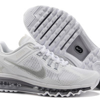 Cheap Sale Nike Air Max 2013 Mens White Running Shoes - $87.99
