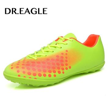 DR.EAGLE Professional soccer shoes Kids' Indoor futsal football boots, TF Turf Racing