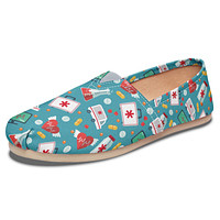 Nurse Pattern Casual Shoes
