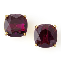 Small Square Stud Earrings, Amethyst - kate spade new york
