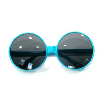 Oversized Very Large Circle Retro Plastic Sunglasses-More Colors Available