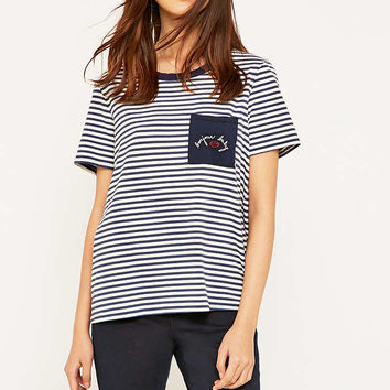 Truly Madly Deeply Bonjour Baby Ringer T-shirt - Urban Outfitters