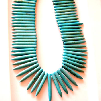 Turquoise spikes, DYI South Western Jewelry,