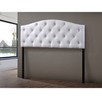 Baxton Studio Whalen White Contemporary Faux Leather Upholstered Button Tufted Headboard | Overstock.com Shopping - The Best Deals on Headboards