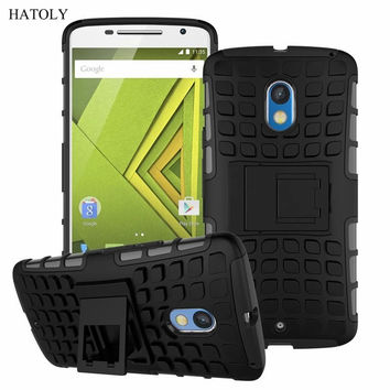 For Motorola Moto X Play Case XT1562 XT1563 XT1561 Heavy Duty Armor Shockproof Hard Rugged Rubber Cover For Moto X3 Lux (<