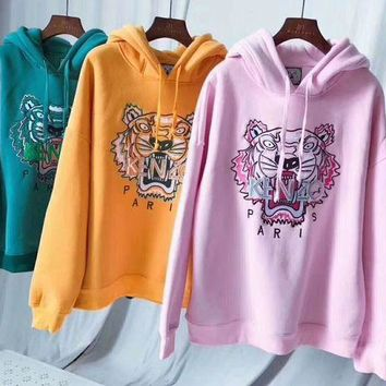 Kenzo Fashion Casual Long Sleeve Pullover Sweater Sweatshirt Hoodie G