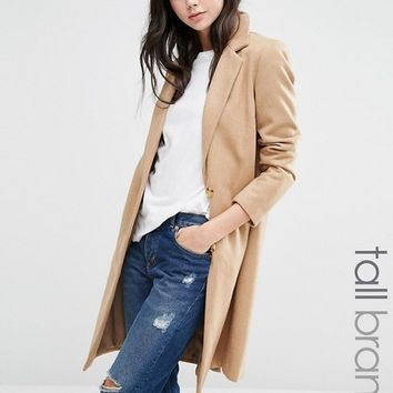 New Look Tall Tailored Coat at asos.com