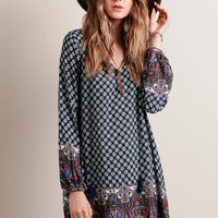 Monaco Printed Shift Dress