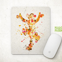 Tigger Mouse Pad, Winnie the Pooh Watercolor Art, Mousepad, Office Decor, Gifts, Art Print, Computer, Desk Deco, Disney Accessories