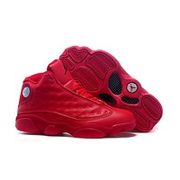 Air Jordan 13 Retro AJ13 All Red Basketball Shoes US 5.5-13
