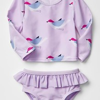 Gap Baby Bird Rashguard Two Piece