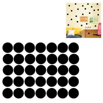 Polka Dots Wall Sticker Baby Nursery Stickers Kids Polka Dots Children Wall Decals DIY Vinyl Wall Art(Black 4CM*52PCS)