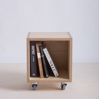 Storage Box / Bookshelf on Wheels - Baltic Birch Plywood