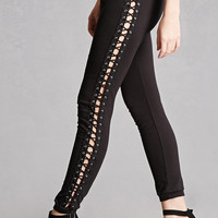 Lace-Up Panel Leggings