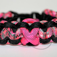 You Pick Awareness Ribbon 550 Paracord Survival Strap Bracelet Anklet with Buckle