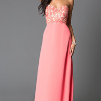 Dresses, Formal, Prom Dresses, Evening Wear: Long Strapless Sweetheart G551 Prom Dress