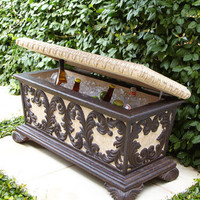 Leaf Scroll Bench Cooler - Horchow