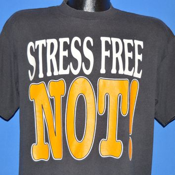 90s Stress Free Not! Big Letter t-shirt Large