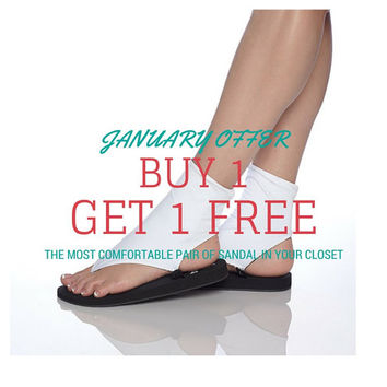 Buy 1 get 1 free offer for custom made sandals