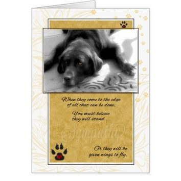 Labrador Dog Pet Sympathy Card