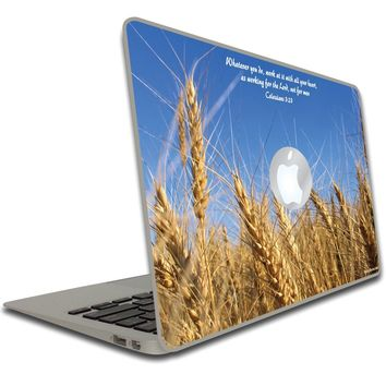 Colossians 3:23 Bible Verse Macbook Air or Macbook Pro Skin