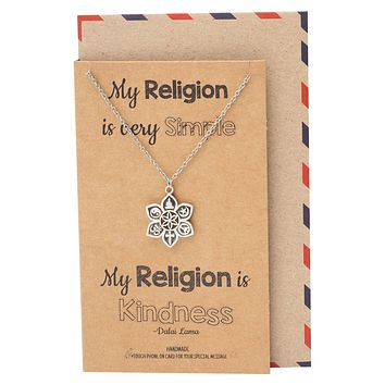 Romina Religion Pendant Necklace, Religious Jewelry with Greeting Card