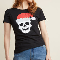 Holly, Skully Christmas Graphic Tee