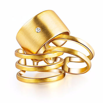 Mod Stackable Gold + Silver Plated Rings