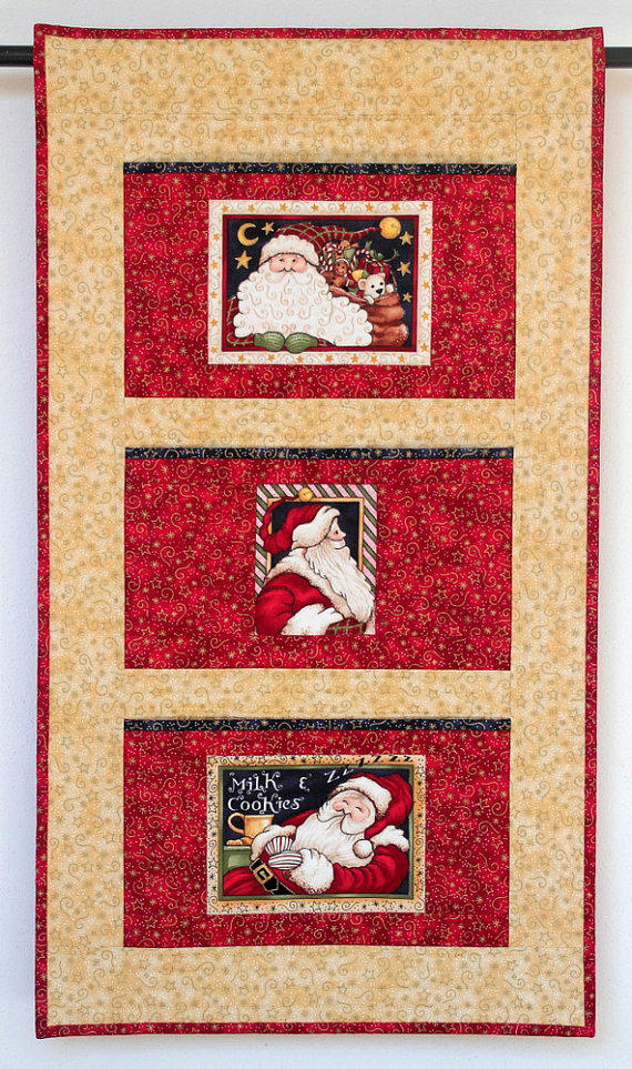 Christmas Card Holder Quilted Wall From Redneedlequilts