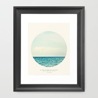 Salt Water Cure Framed Art Print by Tina Crespo | Society6