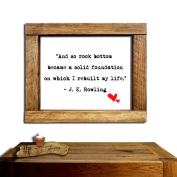 Harry Potter Poster, JK Rowling quote......Wall Art