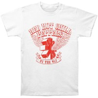 Red Hot Chili Peppers Men's  By The Way Vintage Vintage T-shirt White