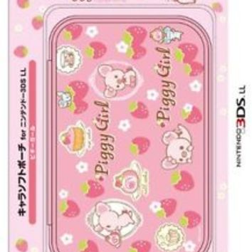"[Nintendo licensed products] Chara soft pouch for 3DLL ""piggy Girl"""